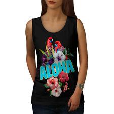 Wellcoda Hawaiian Aloha Bloom Womens Tank Top, Bird Athletic Sports Shirt