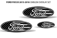 Oval Badge Emblem Logo Overlay Sticker Decals For Ford Focus 2015-2018 SUBDUED