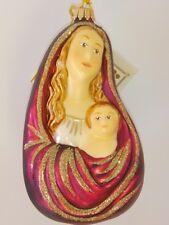 Krebs-Glas-EXCLUSIV - Jesus und Maria-Handdekor. Weihnachtsschmuck / Kugel 13 cm