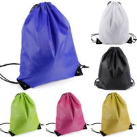 2x Drawstring Bags Tote Bag Gym School Home Travel Sport Storage Backpack