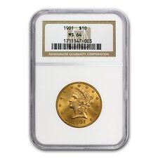 $10 Liberty Gold Eagle Coin - Random Year - Ms-64 Ngc - Sku #23198