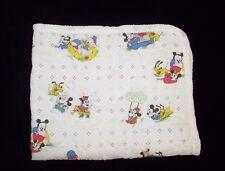 VTG Disney Baby Babies Mickey Minnie Pluto Playing Crib Blanket Comforter 1984