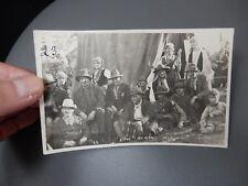 Gypsy Party Baildon ShipleyYorkshire 1929 photographic POSTCARD authentic  a