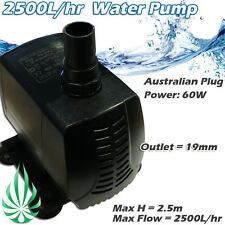 2500L Per Hour Water Pump For Hydroponic Aquarium Water Feature Fountain MH 2.5M