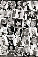 MARILYN MONROE - PHOTO COLLAGE POSTER - 24x36 SHRINK WRAPPED - MOVIE STAR 1989