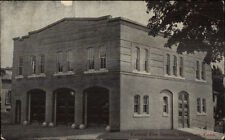 Danielson CT Central Fire Station c1910 Postcard
