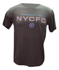 NYC New York City FC MLS Soccer Team Logo Performance Microfiber S/S T-Shirt