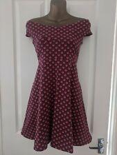 Hermoso Vestido de estilo retro de Dorothy Perkins talla 14 años 40 años 50 Look