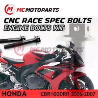 CNC Crankcase Clutch Cover Engine Bolt Kit Fit Honda CBR1000RR 2006-2007
