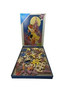 Disney's Beauty and the Beast 40 Piece Thick  Wood Jigsaw Puzzle Falcon Vintage