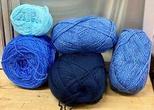 Knitting-Crochet-Yarn-490g-Blues-Royal-Dark-Corn-Crafts-7E