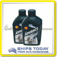 GO KART SHELL ADVANCE RACING M 1 LITRE CASTOR OIL TWIN PACK  SAVE $$$$$  !!! :)