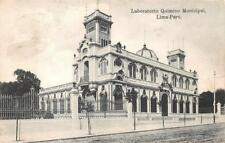 LABORATORIO QUIMICO MUNICIPAL LIMA PERU TO WARWICK ENGLAND POSTCARD 1909