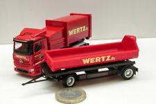 """Herpa 307437  Mercedes-Benz Antos Pressmüllcontainer-Hängerzug """"Wertz Aachen"""" #"""