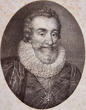 HENRI IV . Portrait, lithographie de 1821,