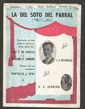 Programme Calderon Theater L F de Sevilla A C Carreño Zarzuela 1964
