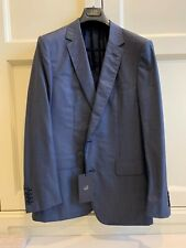 DUNHILL 2-piece suit grey blue 54 NEW+TAGS RRP: USD3,000+