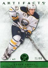 12/13 UPPER DECK ARTIFACTS EMERALD GREEN #94 TYLER ENNIS 71/99 SABRES *33762
