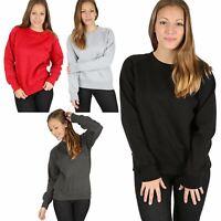 Womens Raglan Long Sleeve Fleece Sweatshirt Ladies Casual Winter Warm Jumper Top