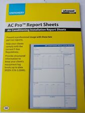 Advanced Engineering Air Conditioning Installation Report Sheets - 14 pads of 50