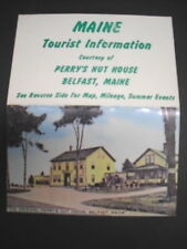 Belfast, ME, Perry's tourist info for area in 1972, fairs & festivals, etc
