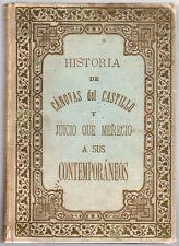 CANOVAS del CASTILLO; JUICIO QUE MERECIO a SUS CONTEMPORANEOS 1901  Ppd/USA!