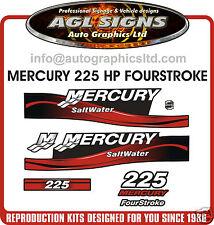 MERCURY 225 SALTWATER FourStroke Red OUTBOARD DECAL KIT, 4 stroke