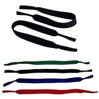 2 NEOPREN Sportbänder / Brillenband / Brillenkordel schwarz + 3 Farben | B-Ware