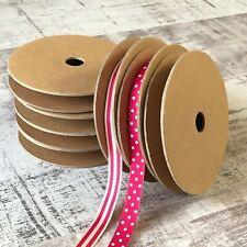 2 x Empty ribbon lace haberdashery spools |15mm | storage bobbin craft trimming