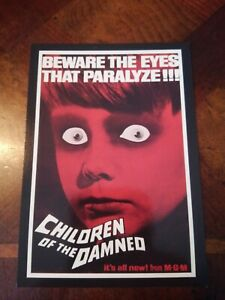 CHILDREN OF THE DAMNED 2010 BREYGENT 1964 POSTER OVERSIZE CARD #35