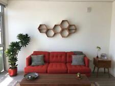 Hexagon Floating Shelves, Honeycomb Shelves, Geometric Wood Shelves,3 pcs.