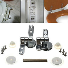 New Toilet Seat Replacement/Repair Chrome Hinge Set Universal Stainless Steel