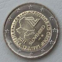 2 Euro Slowakei 2011 Visegrad-Gruppe unz.