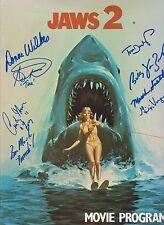 Jaws 2 cast of 8 Original Autographed Movie Program