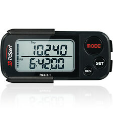 Walking 3d Pedometer With Clip and Strap 30 Days Memory Accurate Step Counter