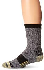 Dickies IMPERFECT Men's Kevlar Reinforced Steel Toe Crew Socks, Black, 3 Pair