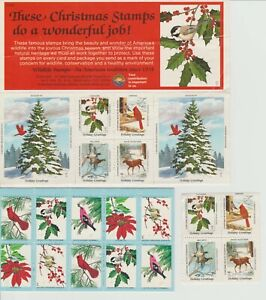 Lot Vintage Wildlife Christmas Postage Stamps 1968
