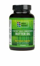 Green Pasture X-Factor Gold Concentrated Butter Oil, 120 Capsules, Non-Gelatin