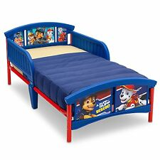 Delta Plastic Metal Toddler Bed Frame Blue Nick Jr Paw Patrol Puppy Dogs NEW