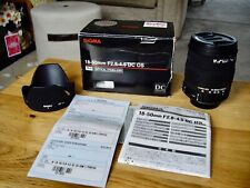 Sigma 18-50mm f2.8-4.5 DC OS HSM lens for Pentax