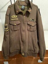 Counter Attack Jacket 2XL Men Army Green Full Zip Military Style Sweatshirt Coat