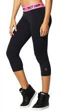 NWT Zumba Womens Crop Capri Pants Crazy Happy Capri Leggings Size Small