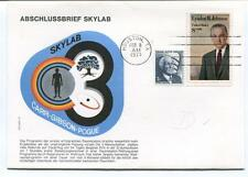 1974 Skylab Carr Gibson Pogue Abschlussbrief Houston Wright Johson NASA USA SAT