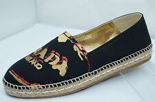 New Prada Women's Shoes Espadrilles Flats Size 39.5 Logo Calzature Donna