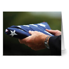 24 Memorial Day Note Cards - In Honor of Service - Red Envs