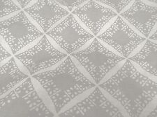 DAVID HICKS GROUNDWORKS Punch Linen pewter white printed softened new 1+ yard
