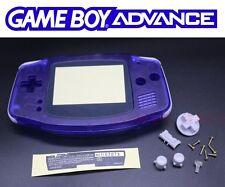Coque remplacement bleu nuit transparent neuve pour Nintendo Game Boy advance