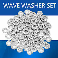 Stainless Steel Wave Washer Gasket Spring Washers Lock Tools Set wtt