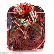 FLEURISTE Pull ruban rouge, vert, Or Métallisé Tartan NOEUDS Boite de 30