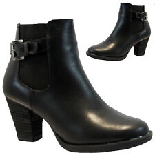 NEW WOMENS LADIES HIGH HEEL BLOCK PLATFORM CHELSEA ANKLE SHOE BOOTS BOOTIES SIZE